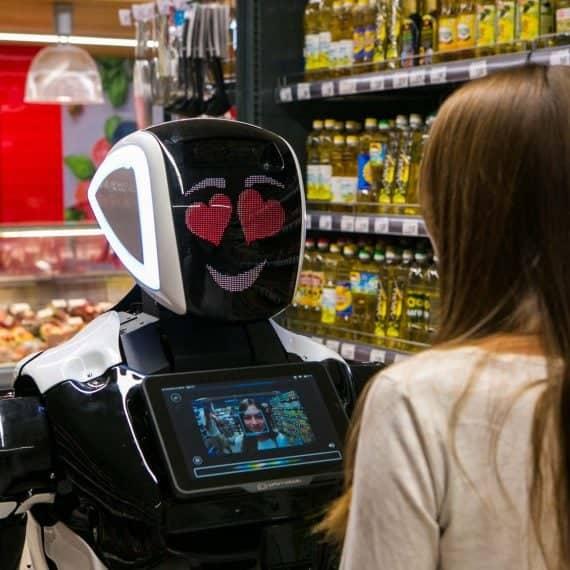 Robôs para o varejo: robôs físicos em lojas e centros comerciais