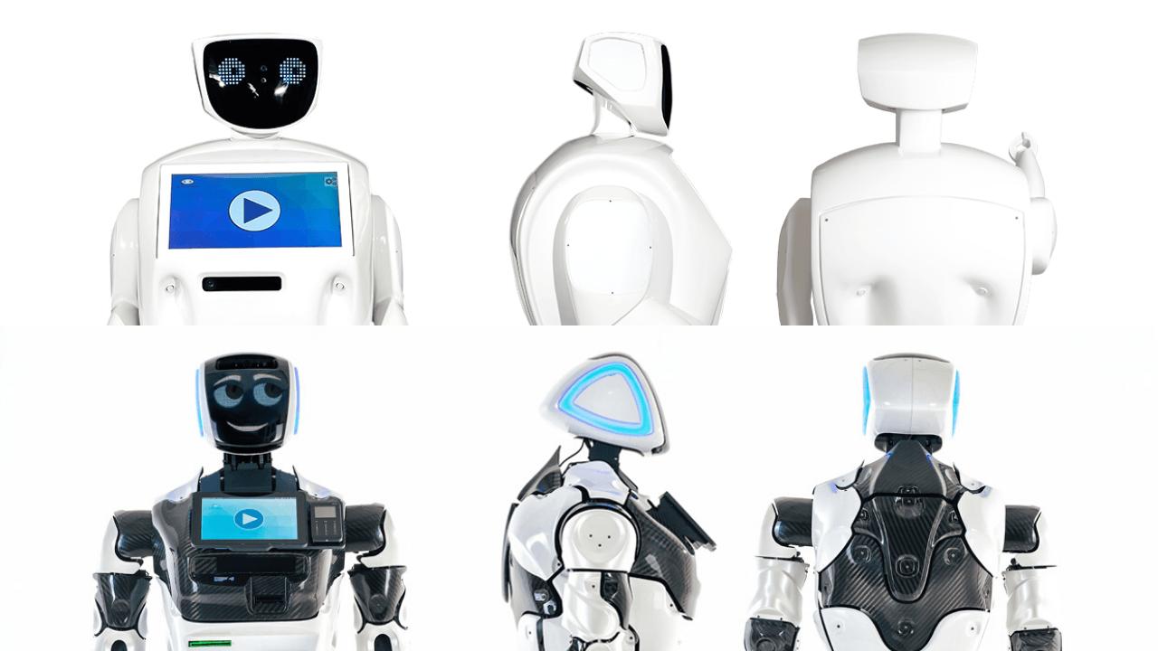 Robôs Promobot V2vsV4
